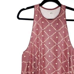 UO Ecote Asymmetric Sleeveless Aztec Dress
